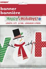 'Happy Holidays' Foil Banner 9FT