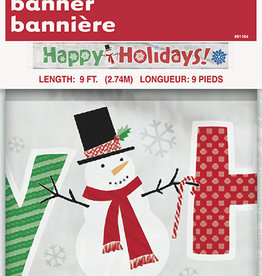 'Happy Holidays' Foil Banner 9FT