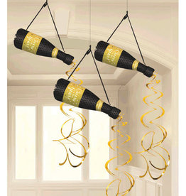 Hanging Honeycomb Champagne Bottles 3ct
