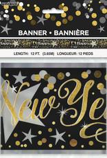 Foil Glittering New Year Banner 12FT
