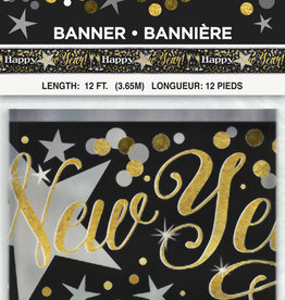 Foil Glittering New Year Banner 12FT