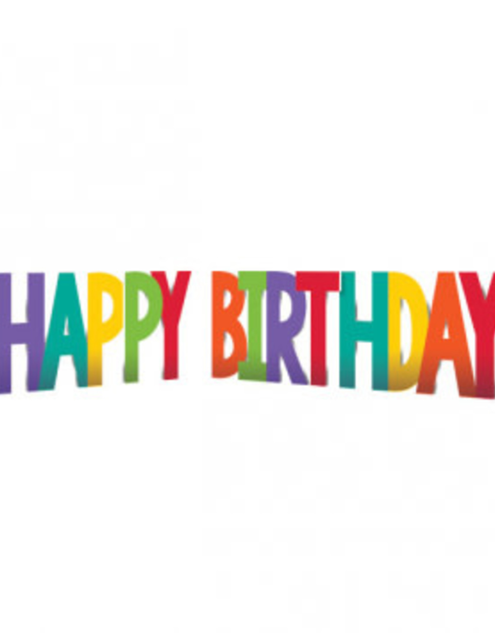 "Birthday  Rainbow Corrugate Yard Sign 12""high"