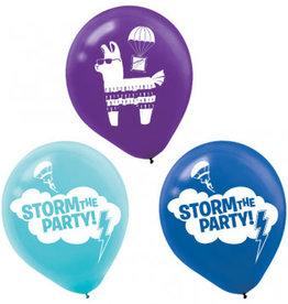 "Fortnite Battle Royal 12"" Latex Balloons, 6ct"
