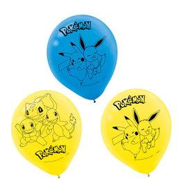 "Pokémon 12"" Latex Balloons, 6ct"