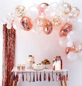 Rose Gold And White Balloon Arch Kit