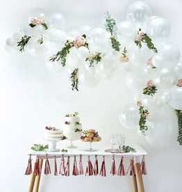 Silver And White Balloon Arch Kit