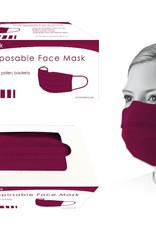Bodico Burgandy Disposable Face Mask 50pk