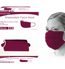 Bodico Burgandy Disposable Face Mask 50pk