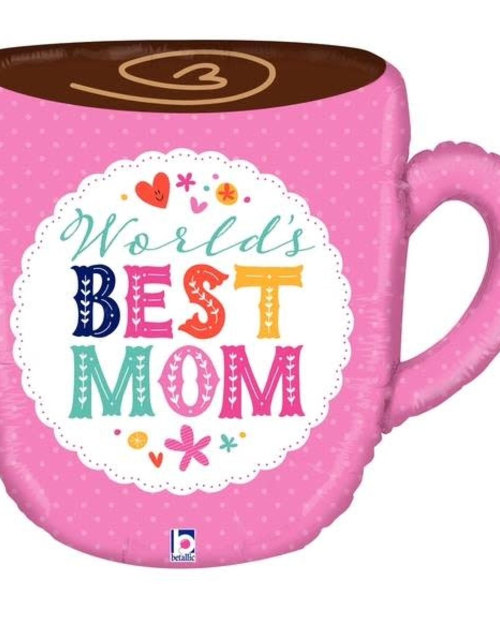 """""""Best Mom"""" Giant Mug 28"""" Foil Balloon"""