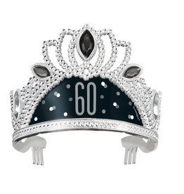 Black & Silver 60th Birthday Tiara