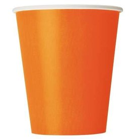 Orange Paper 9oz  Cups 8pk