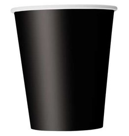 Black Solid 9oz Paper Cups 8ct