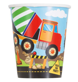 Construction Party 9oz Paper Cups 8ct