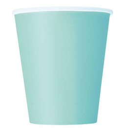 Mint Solid 9oz Paper Cups 8ct
