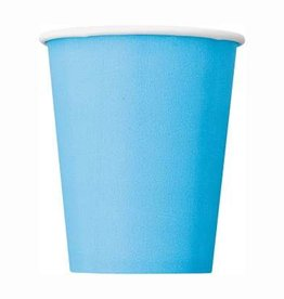 Powder Blue Solid 9oz Paper Cups 8ct