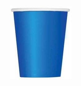 Royal Blue Paper Cups 8pk