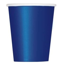 Navy Blue Solid 9oz Paper Cups 14ct