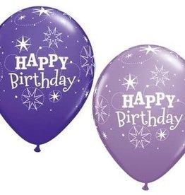 "Purple ""Happy Birthday"" Printed 12"" Latex Singles"