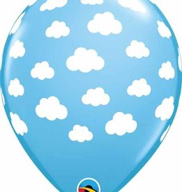"Pale Blue with Printed Clouds 12"" Latex Singles"