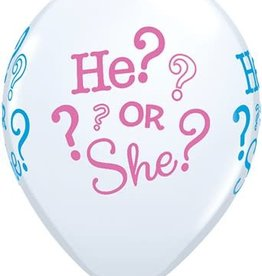 "He? or She? White Printed 12"" Latex Singles"