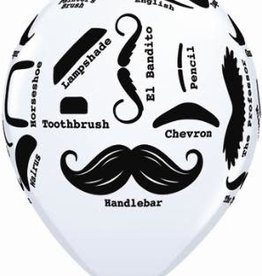 "Mustache  Printed 12"" Latex Singles"