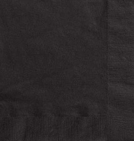 Black Luncheon Napkins 50pk