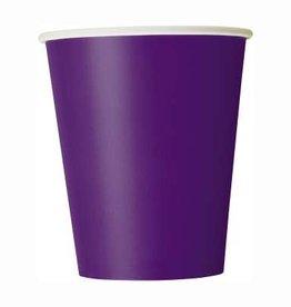 Deep Purple Paper Cups 8ct