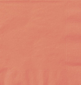 Coral Luncheon Napkins 50pk