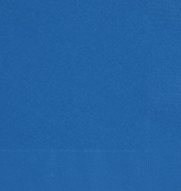 Royal Blue Beverage Napkins 50pk