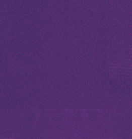 Deep Purple Beverage Napkins 50ct