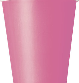 Hot Pink Paper Cups 8ct