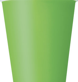 Lime Green Paper Cups 8ct