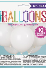 "12"" Latex Balloon 10ct - White"