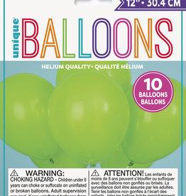 "12"" Latex Balloons 10ct - Lime Green"