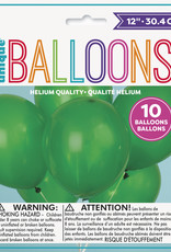 "12"" Latex Balloons 10ct - Forest Green"