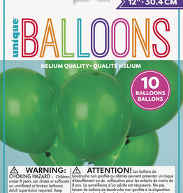 """12"""" Latex Balloons 10ct - Forest Green"""
