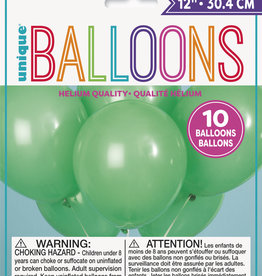 "12"" Latex Balloons 10ct - Emerald Green"