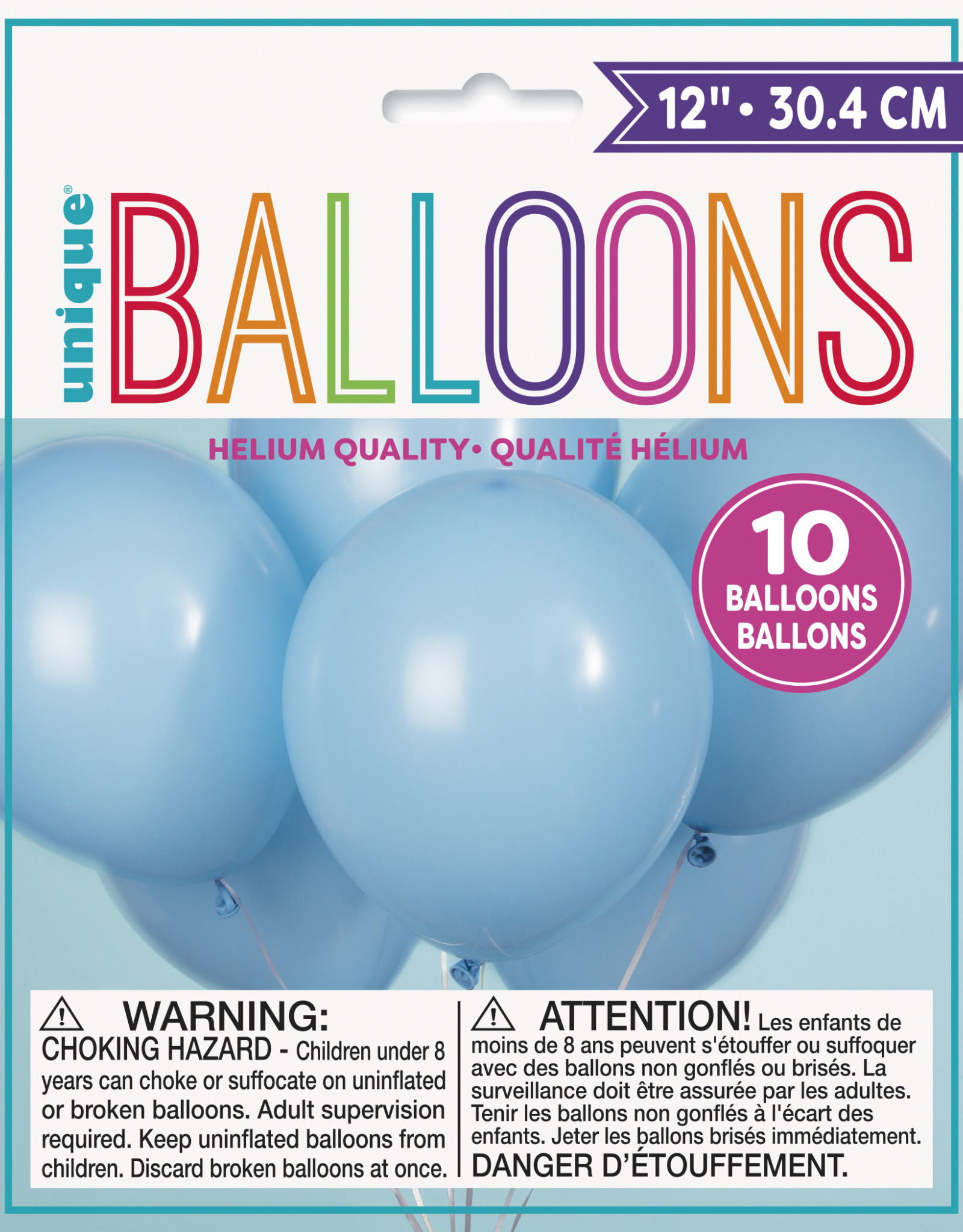 "12"" Latex Balloons 10ct - Baby Blue"