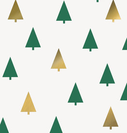 Foil Stamped Christmas Tree Napkins 16ct