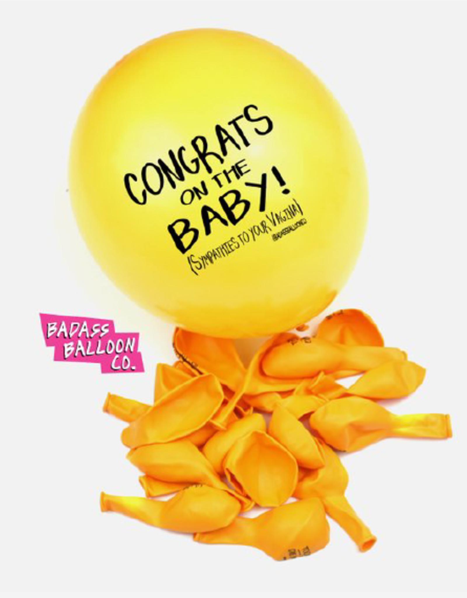 "Badass Balloons "" Congrats On the Baby!"" 12"" Latex Singles"