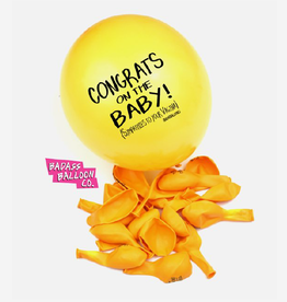"Badass Balloons "" Congrats On the Baby!"" 12"" Latex Singles"