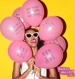 "Badass Balloons ""Not Today Satan"" 12"" Latex Singles"