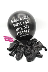 """Badass Balloons """"Giving a Fuck Doesn't Go with This Outfit"""" 12"""" Latex Singles"""