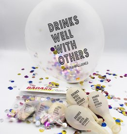 "Badass Balloons ""Drinks Well With Others"" 12"" Latex Singles"