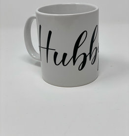 "Hand Made ""Hubby"" Porcelain Custom Mug"