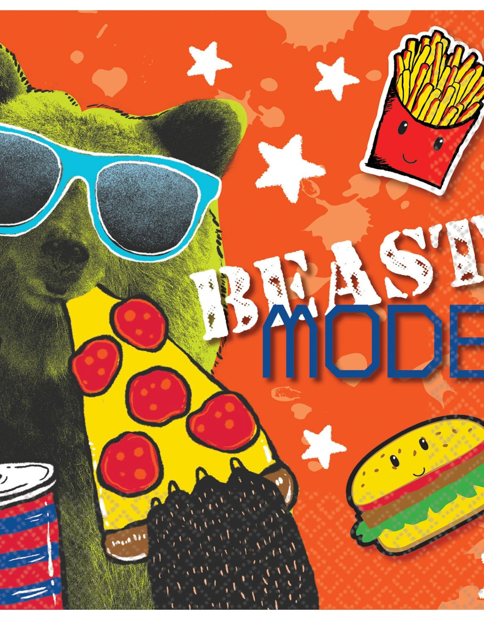 Beast Mode Gaming Beverage Napkins 16ct