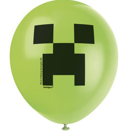 "Minecraft 12"" Latex Balloons 8ct"