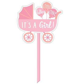 Plastic Yard Sign - It's a Girl!