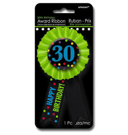 30th Birthday Award Ribbon Pin