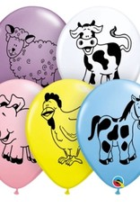 "Barn Yard Farm Animal 12"" Printed Latex Singles"